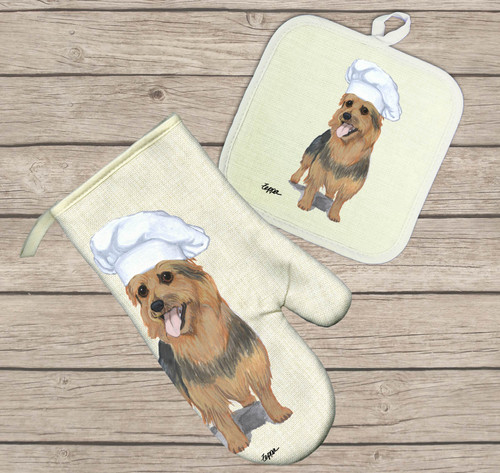 Australian Terrier Oven Mitt and Pot Holder Set