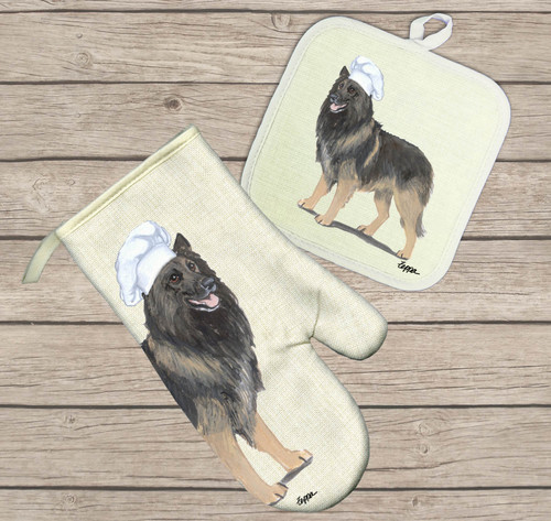Belgian Tervuren Oven Mitt and Pot Holder Set