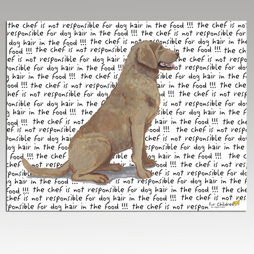 Chesapeake Bay Retriever Message Cutting Board - Rectangular