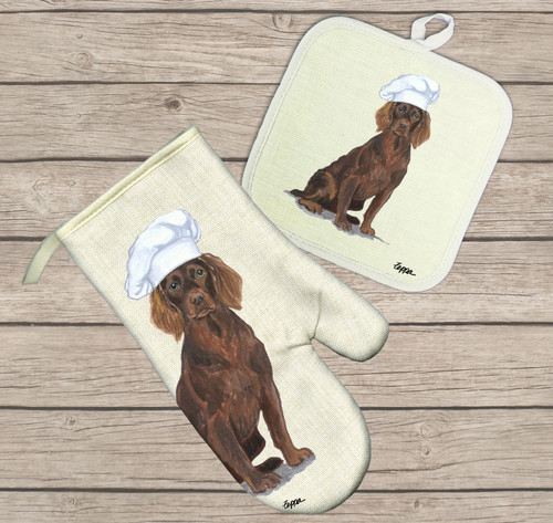 Boykin Spaniel Oven Mitt and Pot Holder