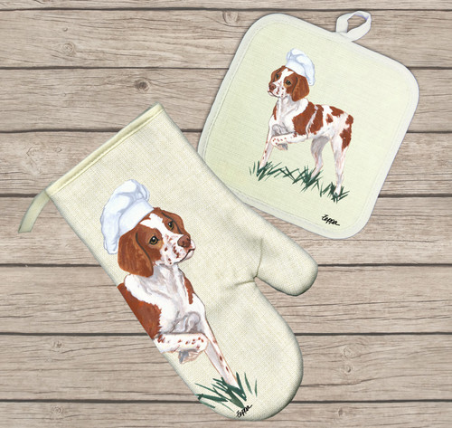 Brittany Oven Mitt and Pot Holder Set