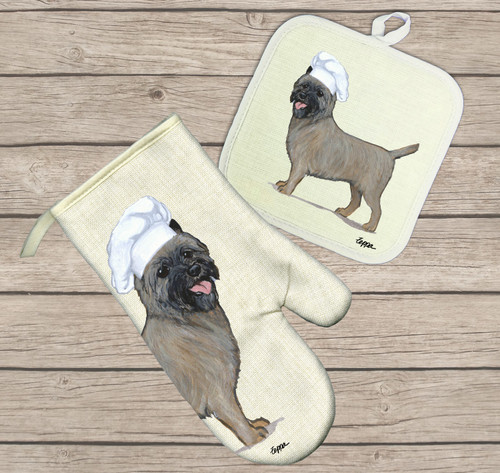 Cairn Terrier Oven Mitt and Pot Holder Set