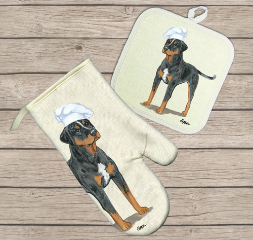 Catahoula Leopard Dog Oven Mitt and Pot Holder Set