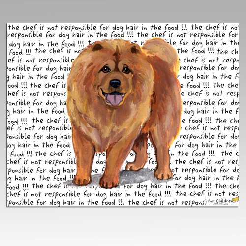 Chow Chow Message Cutting Board - Rectangular