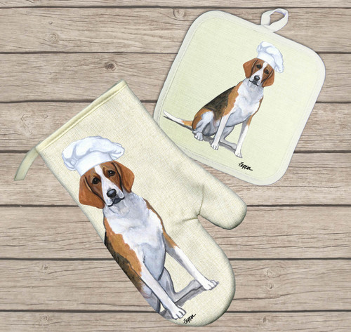 Foxhound Oven Mitt and Pot Holder Set