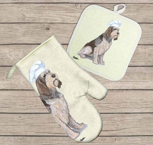 Italian Spinone Oven Mitt and Pot Holder Set