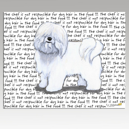 Coton du Tulear Message Cutting Board - Rectangular