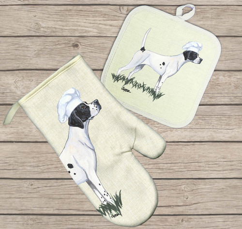 Pointer Oven Mitt and Pot Holder Set