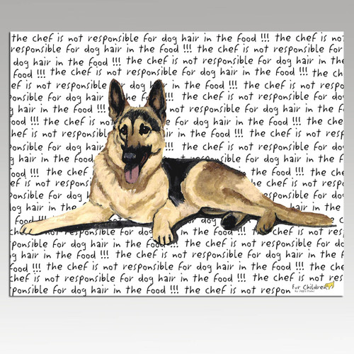 German Shepherd Message Cutting Board - Rectangular