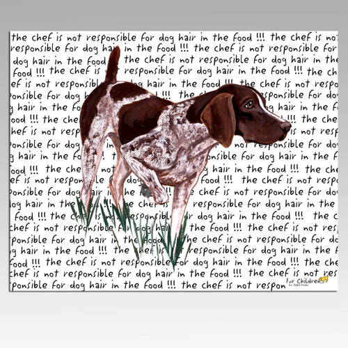German Shorthair Pointer Message Cutting Board - Rectangular