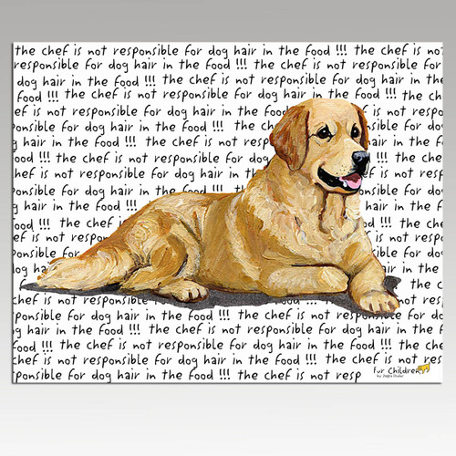 Golden Retriever Message Cutting Board - Rectangular