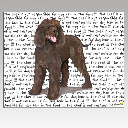 Irish Water Spaniel Message Cutting Board - Rectangular