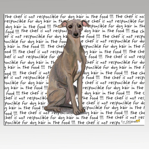 Italian Greyhound Message Cutting Board - Rectangular