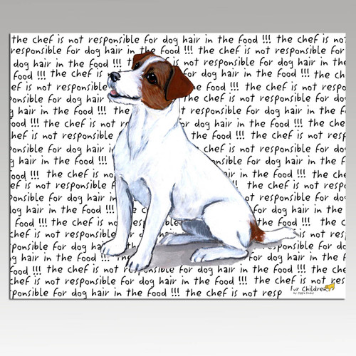 Jack Russell Terrier Message Cutting Board - Rectangular