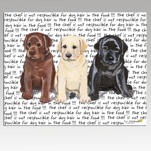 Labrador Retriever Trio Message Cutting Board - Rectangular