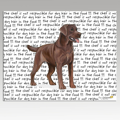 Labrador Retriever, Chocolate Message Cutting Board - Rectangular
