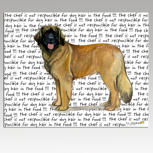 Leonberger Message Cutting Board - Rectangular