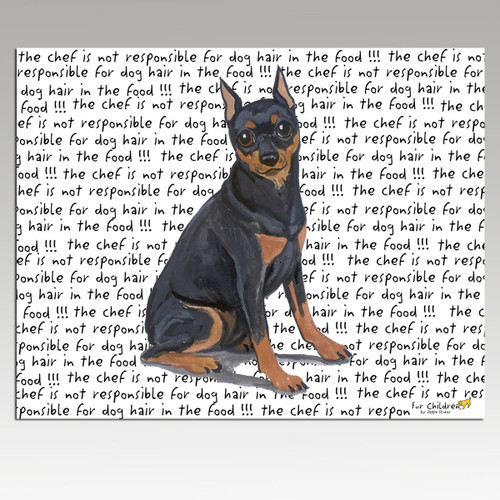Miniature Pinscher Message Cutting Board - Rectangular