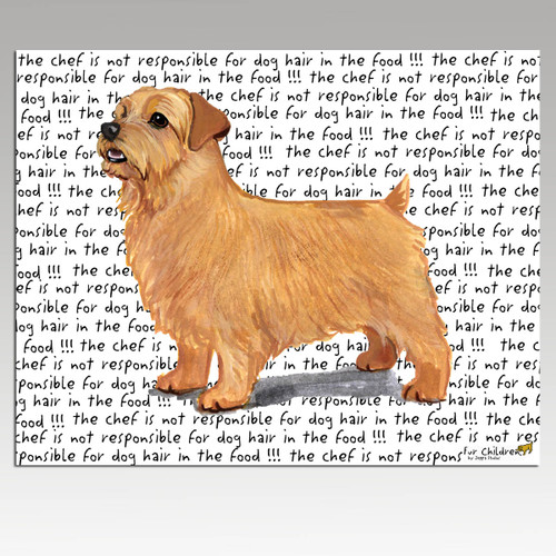 Norfolk Terrier Message Cutting Board - Rectangular