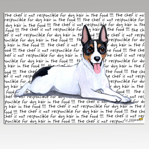 Rat Terrier Message Cutting Board - Rectangle