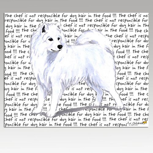 Samoyed Message Cutting Board - Rectangle