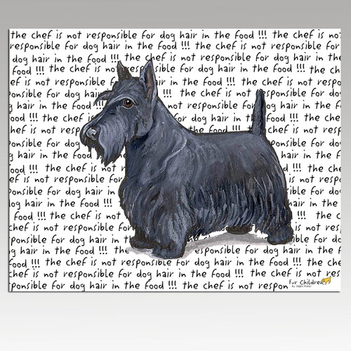 Scottish Terrier Message Cutting Board - Rectangle