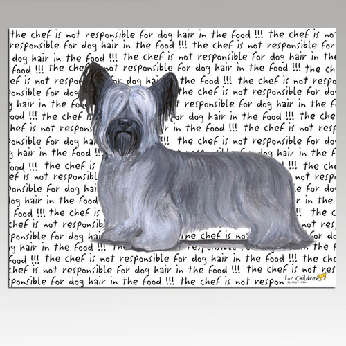 Skye Terrier Message Cutting Board - Rectangle