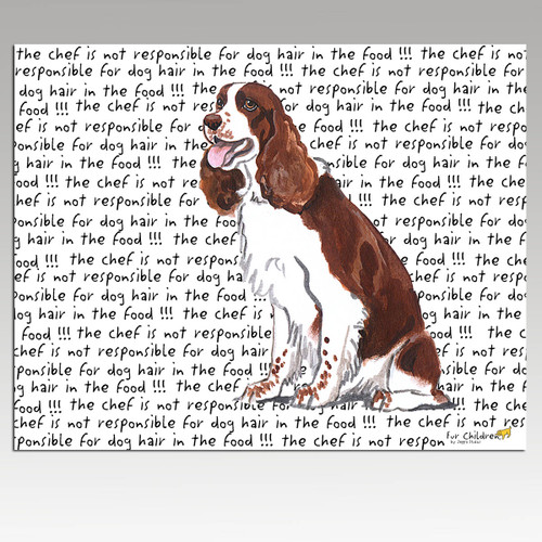 Springer Spaniel Message Cutting Board - Rectangle