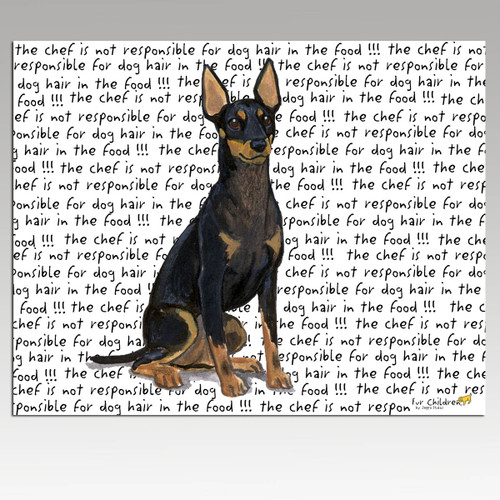 Toy Manchester Terrier Message Cutting Board - Rectangle