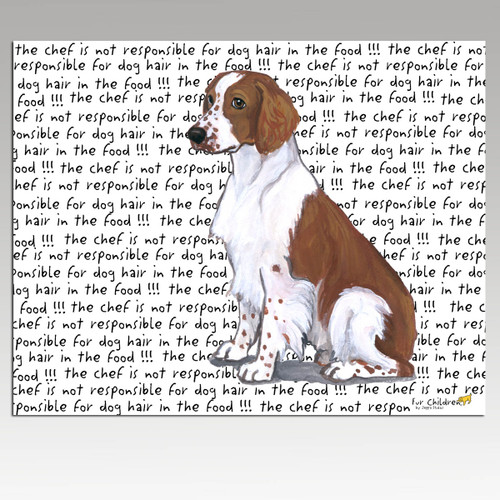 Welsh Springer Spaniel Message Cutting Board - Rectangle