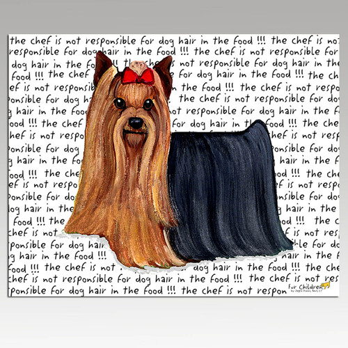 Yorkshire Terrier Message Cutting Board - Rectangle
