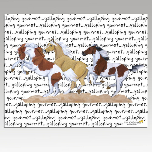 Wild Horses Message Cutting Board