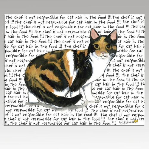 Calico Cat Message Cutting Board