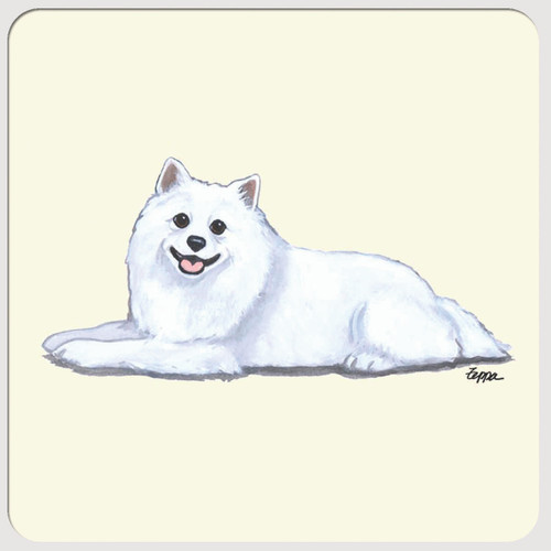 American Eskimo Dog Beverage Coasters