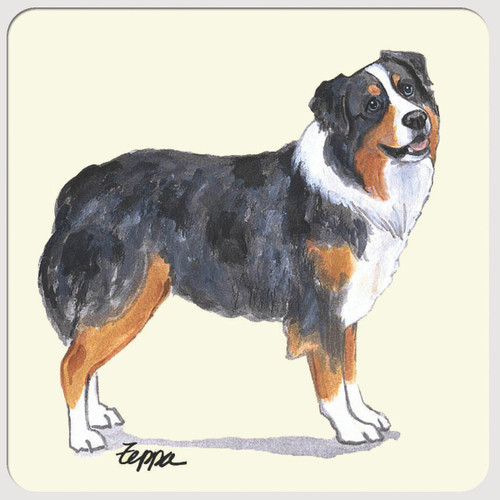 Australian Shepherd Message Beverage Coasters