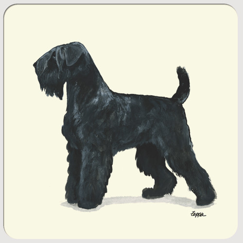Black Russian Terrier Coasters