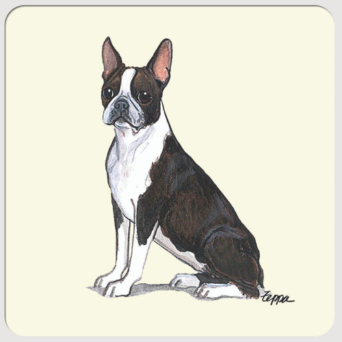 Boston Terrier Beverage Coasters