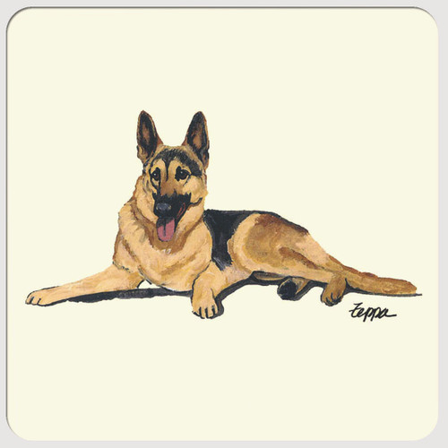 German Shepherd Beverage Coasters