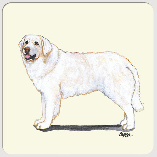 Kuvasz Beverage Coasters