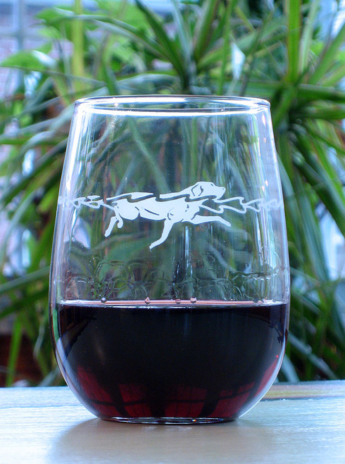 17 oz Waterdog Stemless Wine Glasses