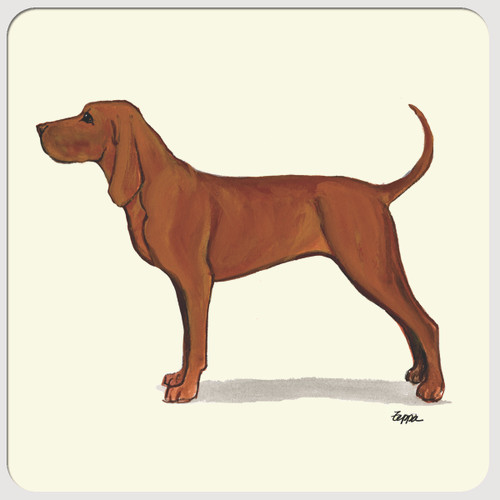 Redbone Coonhound Beverage Coasters