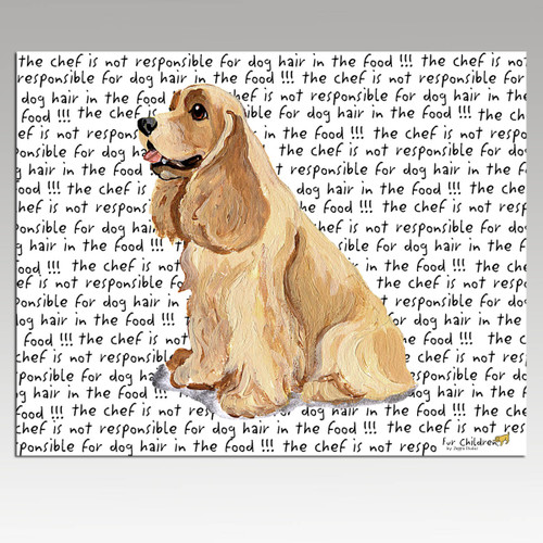 American Cocker Spaniel Message Cutting Board