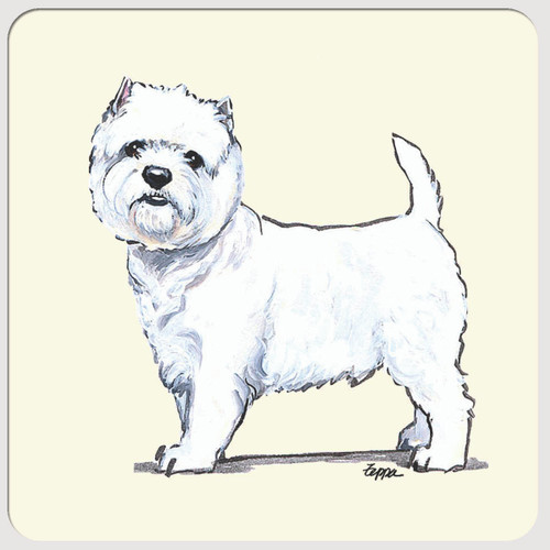 West Highland White Terrier Beverage Coasters