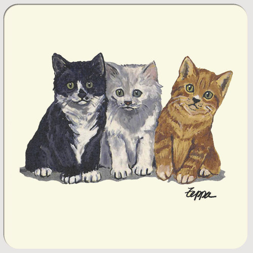 3 Kittens Beverage Coasters