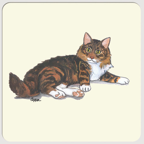 Maine Coon Cat Beverage Coasters