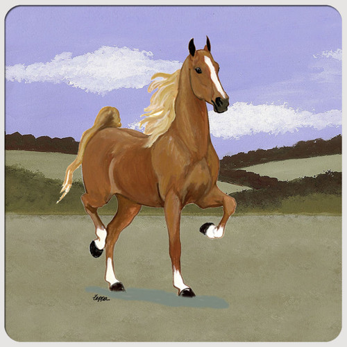 Saddlebred Scenic Beverage Coasters