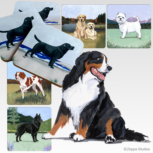 Bernese Mountain Dog Scenic Coasters