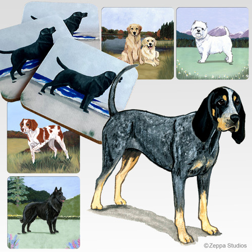 Bluetick Coonhound Scenic Coasters