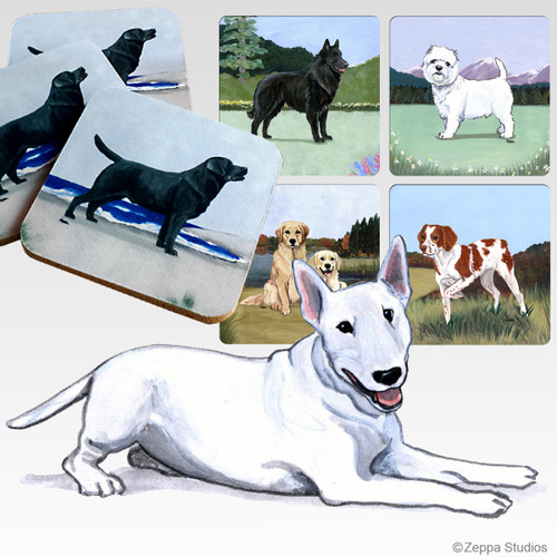 Bull Terrier Scenic Coasters