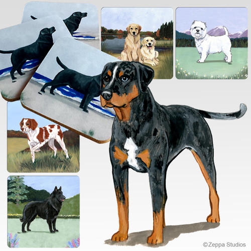 Catahoula Leopard Dog Scenic Coasters